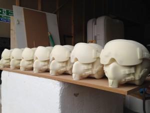 jet pilot helmet production