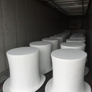 We created 50 1m high top hats for Hatfield