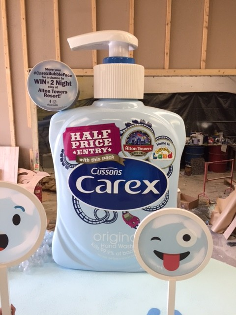 Giant hand soap - Carex buble face stand