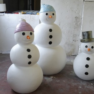 Snow men family, Christmas props