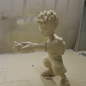 Matt hatter model, Spray applied polyurethane