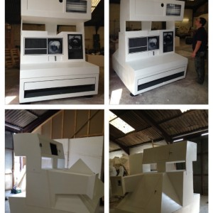 See how we created a giant polaroid camera to be used as a bespoke photo booth