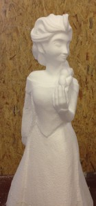 polystyrene sculpture - Elsa in the making