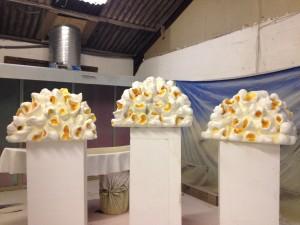 Giant popcorn model