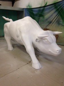 Hand carved Bull
