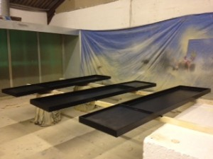 Giant paint trays event prop