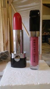relica of Marc jacobs lipstick and lipgloss