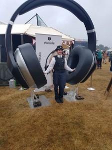 Giant headphones