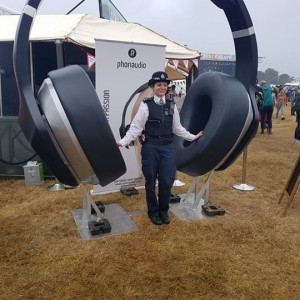 Giant headphones