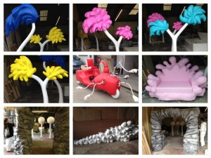 Custom made 3d dr-seuss-elements