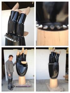 Giant custom mannequin hand