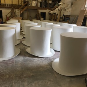 We created 50 1m high Top hats, view project