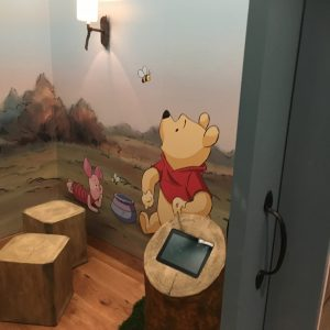 Westfield shopping centre Disney family room props