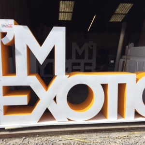 Giant letters we created