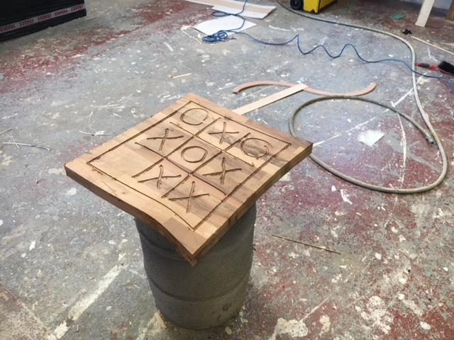 CNC routing design into table top