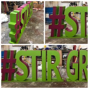 Large 3d letters graduation prop #stirgrad
