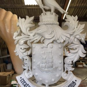 graduation prop we created a university crest