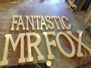 Large 3d letters of Fantastic mr Fox