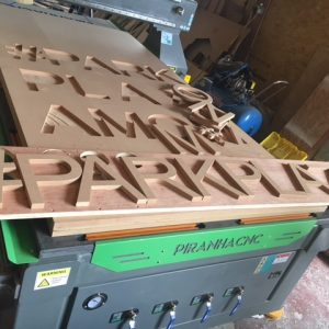 CNC cutting out letters