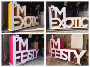 large 3d letters