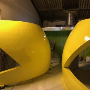 Custom build Pacman exhibiton stand