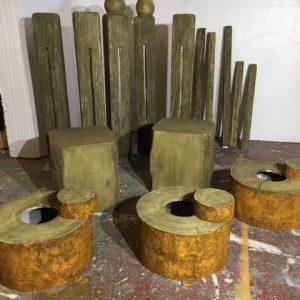 cstom scenic props wood effect