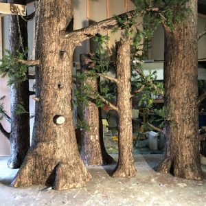 Realistic artificial trees we created for a theatre production
