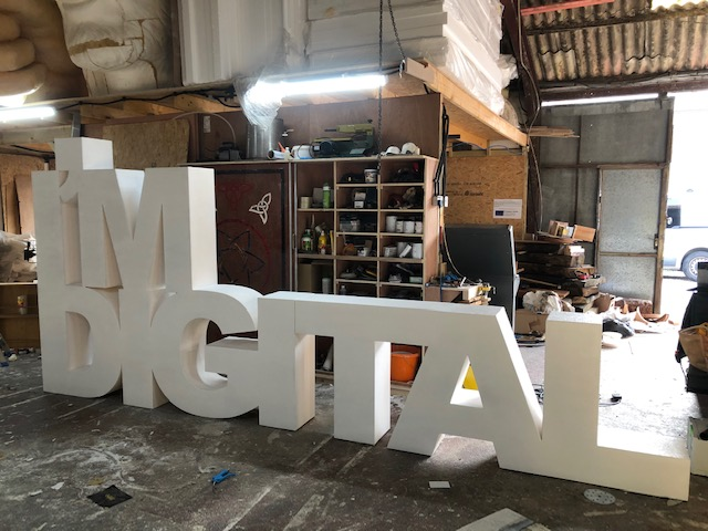 Im digital large letters prop