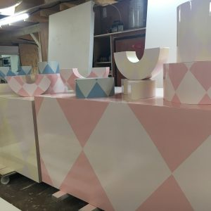 Pattern shapes and plinths