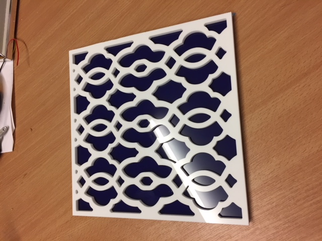 CNC routed custom tile