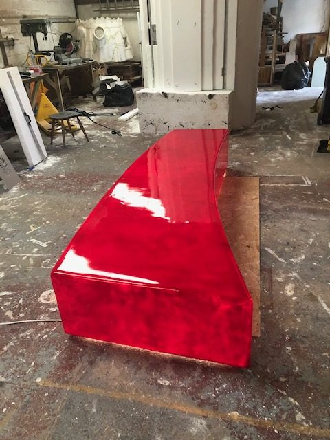 Contemporary red light seat