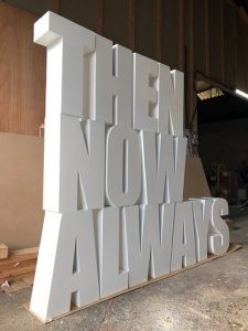 large 3d letters made from mdf and birch plywood