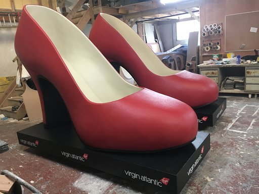 Vigin atlantic giant red shoe prop