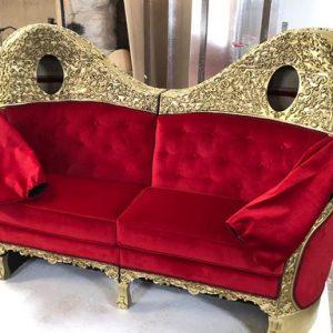 red velvet living couches 4