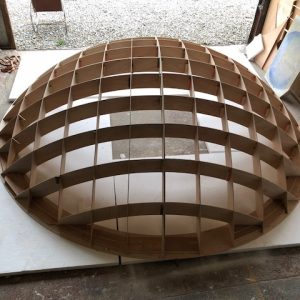 CNC cut dome shape