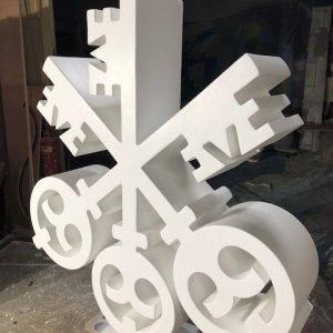 cnc cut 3d logo