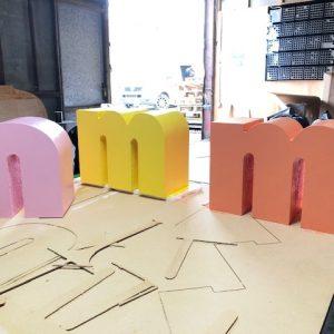 CNC cut 3d letters