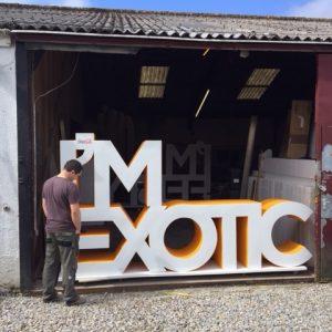 Large 3d letters im exotic